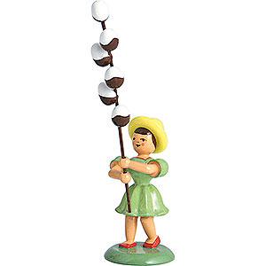 Kleine Figuren & Miniaturen Blumenkinder Blumenkind Maikätzchen, farbig - 12 cm