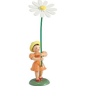 Kleine Figuren & Miniaturen Blumenkinder Blumenkind Margerite, farbig - 12 cm