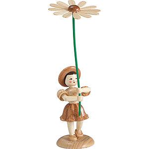 Kleine Figuren & Miniaturen Blumenkinder Blumenkind Margerite, natur - 12 cm