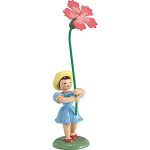 Kleine Figuren & Miniaturen Blumenkinder Blumenkind Nelke, farbig - 12 cm