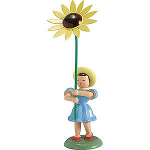 Kleine Figuren & Miniaturen Blumenkinder Blumenkind Sonnenblume, farbig - 12 cm