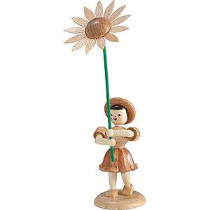 Kleine Figuren & Miniaturen Blumenkinder Blumenkind Sonnenblume, natur - 12 cm