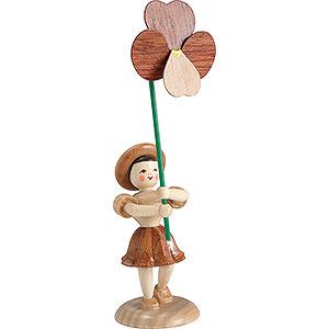 Kleine Figuren & Miniaturen Blumenkinder Blumenkind Stiefmütterchen, natur - 12 cm