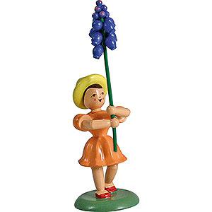 Kleine Figuren & Miniaturen Blumenkinder Blumenkind Traubenhyazinthe, farbig - 12 cm