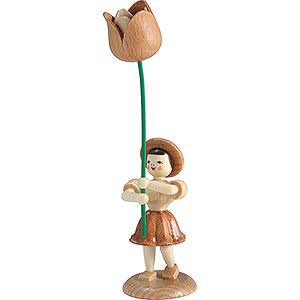 Kleine Figuren & Miniaturen Blumenkinder Blumenkind Tulpe, natur - 12 cm