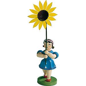 Kleine Figuren & Miniaturen Blumenkinder Blumenkind mit Sonnenblume, farbig - 20 cm