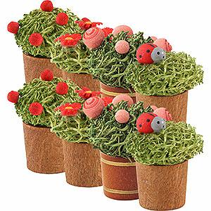 Weihnachtsengel Günter Reichel Dekoration Blumentopf sortiert, 8 Stück - 3 cm