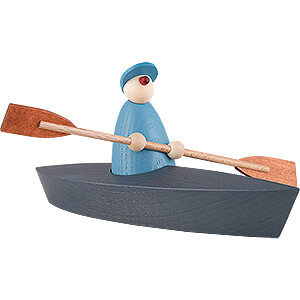 Small Figures & Ornaments Björn Köhler Well-wisher Boat Trip of One, Light Blue - 9 cm / 3.5 inch