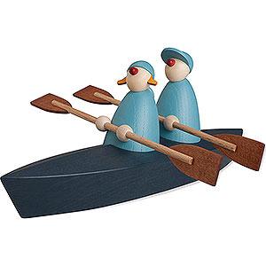 Kleine Figuren & Miniaturen Björn Köhler Gratulanten Bootspartie Zweier, hellblau - 9 cm