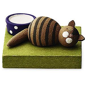 Angels Reichel Guardian Angels Brown Cat, Sleeping - 1 cm / 0.5 inch