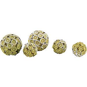 Kleine Figuren & Miniaturen Flade Flachshaarkinder Buchsbaumkugeln (5 Stück) - 2 cm