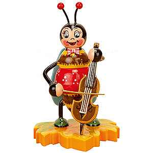 Small Figures & Ornaments Animals Beetles Bumblebee with Cello - 8 cm / 3 inch