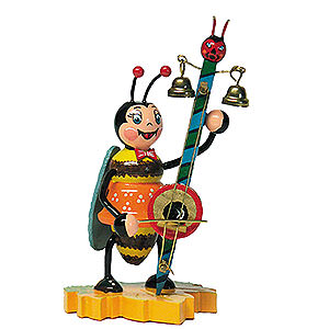 Small Figures & Ornaments Animals Beetles Bumblebee with Devilish Violin - 8 cm / 3 inch