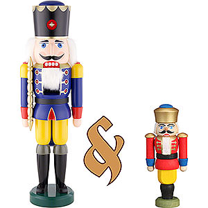 Nutcrackers Kings Bundle - Nutcracker King Blue Large and Nutcracker King Red Small
