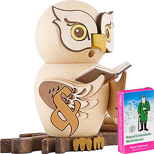 Smokers Animals Bundle - Smoker Owl with Books plus one pack of incense