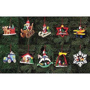 Tree ornaments Santa Claus Bundle - Tree Ornaments Santa Claus
