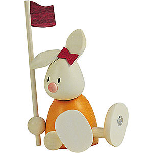 Gift Ideas Easter Bunny Emma Golfing with Flag - 9 cm / 3.5 inch