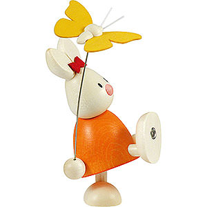 Small Figures & Ornaments Max & Emma (Hobler) Bunny Emma with Butterfly - 9 cm / 3.5 inch