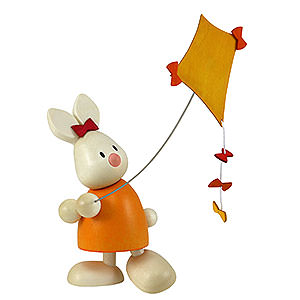 Small Figures & Ornaments Max & Emma (Hobler) Bunny Emma with Kite - 9 cm / 3.5 inch