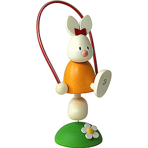 Gift Ideas Easter Bunny Emma with Skipping Rope - 7 cm / 2.8 inch
