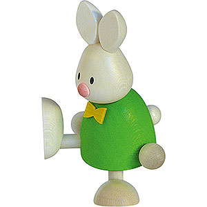 Small Figures & Ornaments Max & Emma (Hobler) Bunny Max on One Leg - 9 cm / 3.5 inch