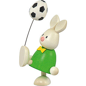 Small Figures & Ornaments Max & Emma (Hobler) Bunny Max with Football - 9 cm / 3.5 inch