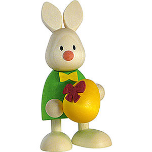 Small Figures & Ornaments Max & Emma (Hobler) Bunny Max with Large Egg - 9 cm / 3.5 inch