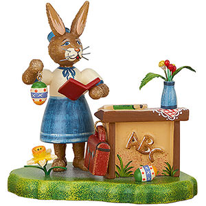 Small Figures & Ornaments Hubrig Rabbits Country Bunny School Miss Teacher - 9 cm / 3.5 inch