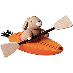Gift Ideas Easter Bunny in Carrot Canoe - 3,5 cm / 2inch / 1.4 inch