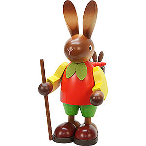 Small Figures & Ornaments Animals Rabbits Bunny (male) with Children - 22,0 cm / 9 inch