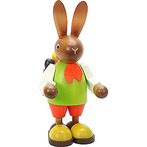 Small Figures & Ornaments Animals Rabbits Bunny (male) with Eggs in Basket - 22,5 cm / 9 inch