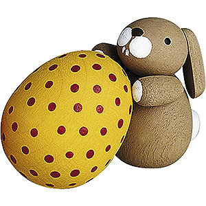 Small Figures & Ornaments Günter Reichel Easter Bunnies Bunny with Egg - 2,7 cm / 1.1 inch