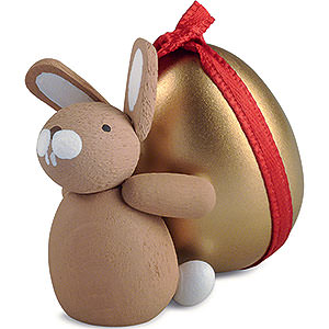 Small Figures & Ornaments Easter World Bunny with Golden Egg - 3,5 cm / 1.4 inch
