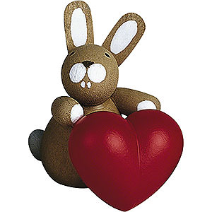 Small Figures & Ornaments Günter Reichel Easter Bunnies Bunny with Heart - 3 cm / 1.2 inch