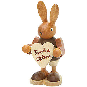 Small Figures & Ornaments Animals Rabbits Bunny with Heart Natural - 8,5 cm / 3.3 inch
