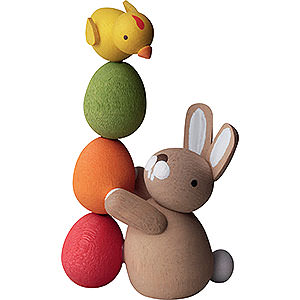 Gift Ideas Easter Bunny with Pile of Eggs - 3,5 cm / 2inch / 1.4 inch
