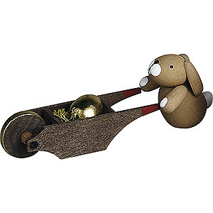 Small Figures & Ornaments Günter Reichel Easter Bunnies Bunny with Wheel Barrow - 3 cm / 1.2 inch