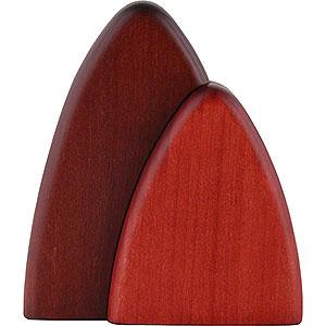 Kleine Figuren & Miniaturen Björn Köhler Dekoration Busch für Wandrahmen, rot - 10 cm