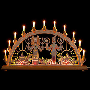Candle Arches Fret Saw Work Candle Arch - Angel & Miner - 68x35 cm / 26.8x13.8 inch
