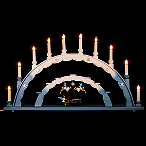 Candle Arches All Candle Arches Candle Arch - Angel at the Piano and Electric Lights and Three Angels - 70x40 cm / 27.5x15.7 inch