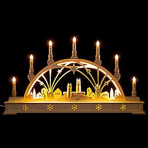 Candle Arches Illuminated inside Candle Arch - Angels - with Base - 63x35 cm / 24.8x13.8 inch