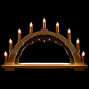 Candle Arches All Candle Arches Candle Arch - Anthracite Interior - without Figurines - 66x40 cm / 26x15.7 inch