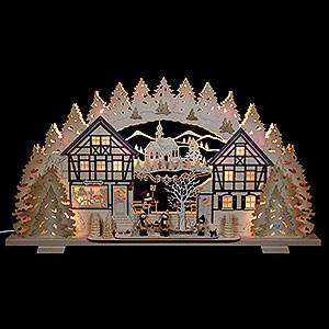Candle Arches Fret Saw Work Candle Arch - Arts & Crafts with Figures by Thiel - 72x41x7 cm / 28x16x3 inch