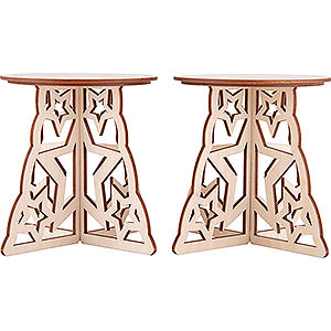 Candle Arches Illuminated Stands Candle Arch Base - Star - Set of Two - 15x12 cm / 5.9x4.7 inch