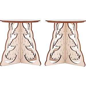 Candle Arches Illuminated Stands Candle Arch Base - Tree - Set of Two - 15x12 cm / 5.9x4.7 inch