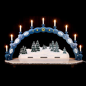 Small Figures & Ornaments Hubrig Winter Kids Candle Arch - Big Size - 95x28x59 cm / 37x11x23 inch