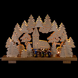 Candle Arches Fret Saw Work Candle Arch - Caroler - 50x32 cm / 20x13 inch