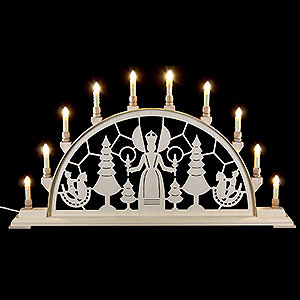 Candle Arches Fret Saw Work Candle Arch - Christmas Angel - 78x42 cm / 31x17 inch