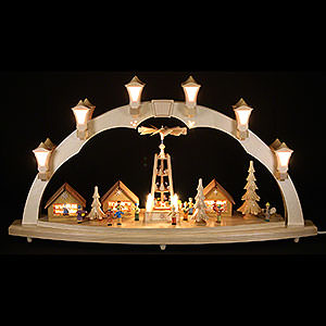 Candle Arches Illuminated inside Candle Arch - Christmas Fair - 41x17 inch - 80x43 cm / 16.9 inch