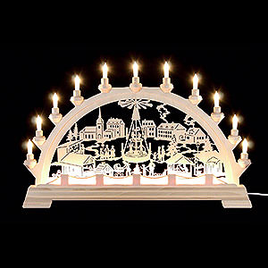 Candle Arches Fret Saw Work Candle Arch - Christmas Fair - 65x40 cm / 26x16 inch